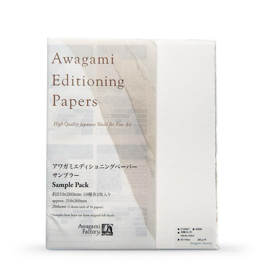 Awagami Washi : Japanese Paper : Printmaking Sample Pack : 21x26cm : 20 Sheets
