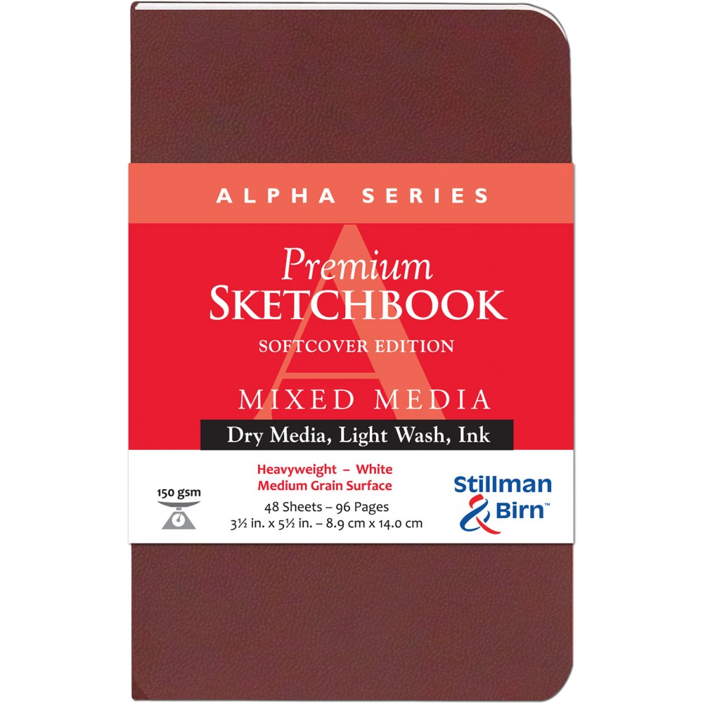 Stillman & Birn : Alpha Softcover Sketchbook : 150gsm : Med Grain : 3.5x5.5in (9x14cm) : Portrait