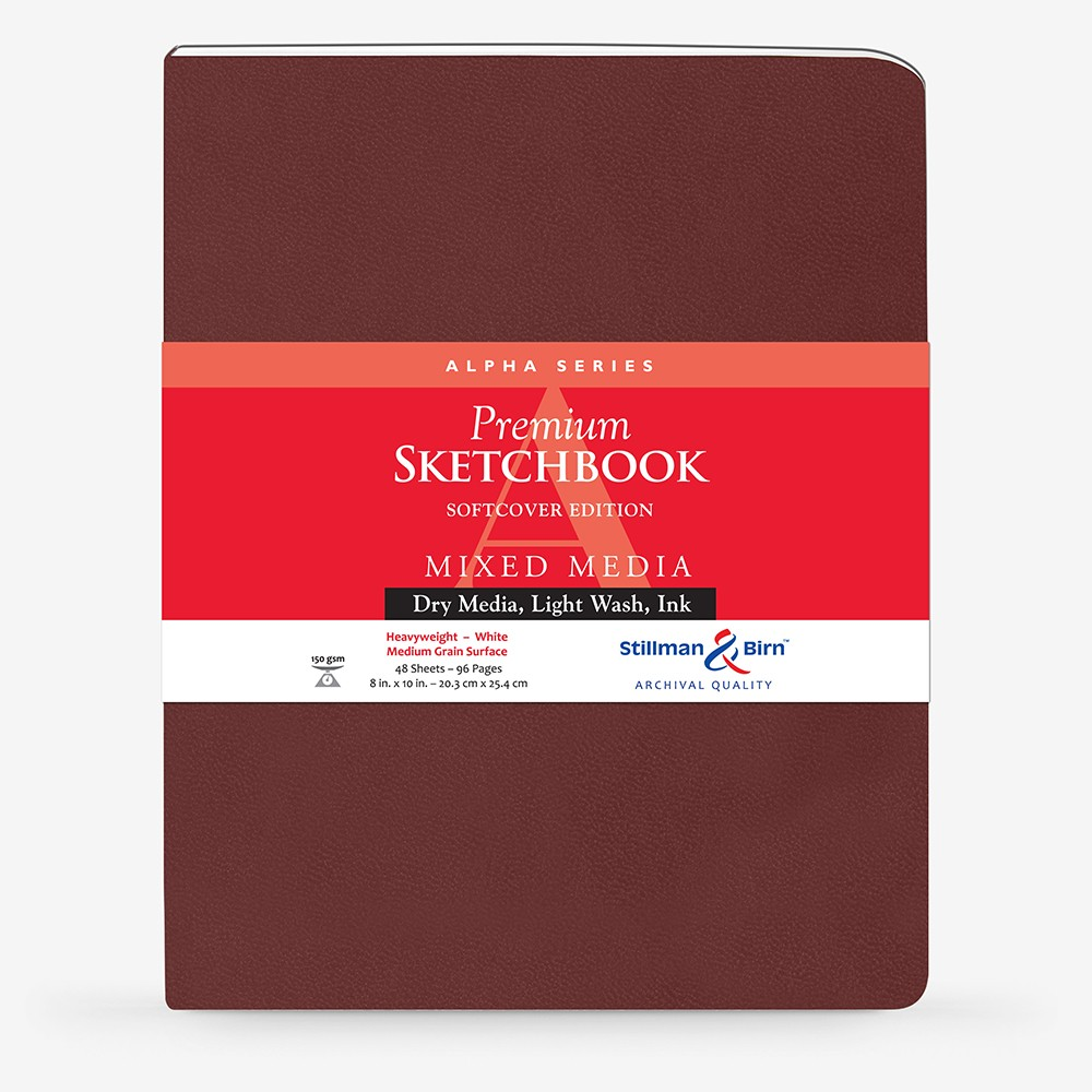 Stillman & Birn : Alpha Softcover Sketchbook : 150gsm : Med Grain : 8x10in (20x25cm) : Portrait