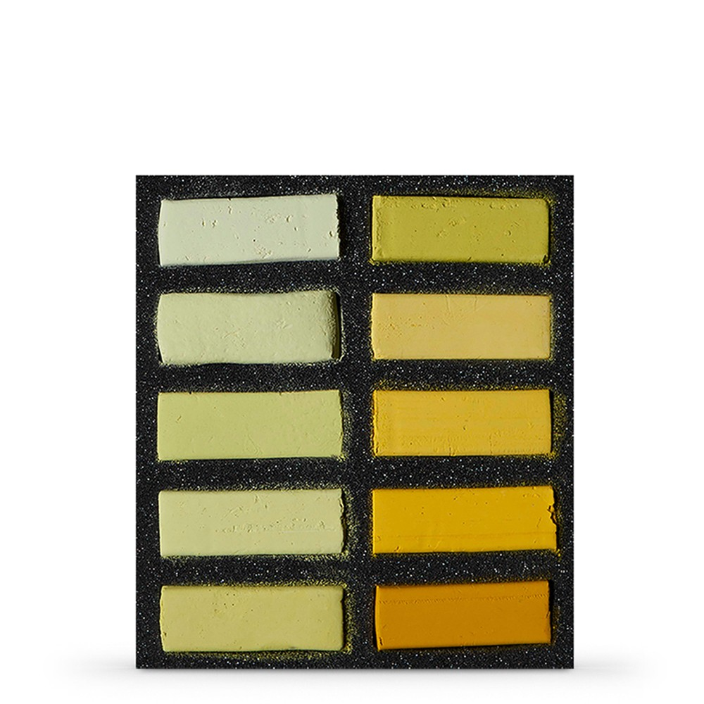 Art Spectrum : Extra Soft Square Pastel : Set Of 10 : Yellows