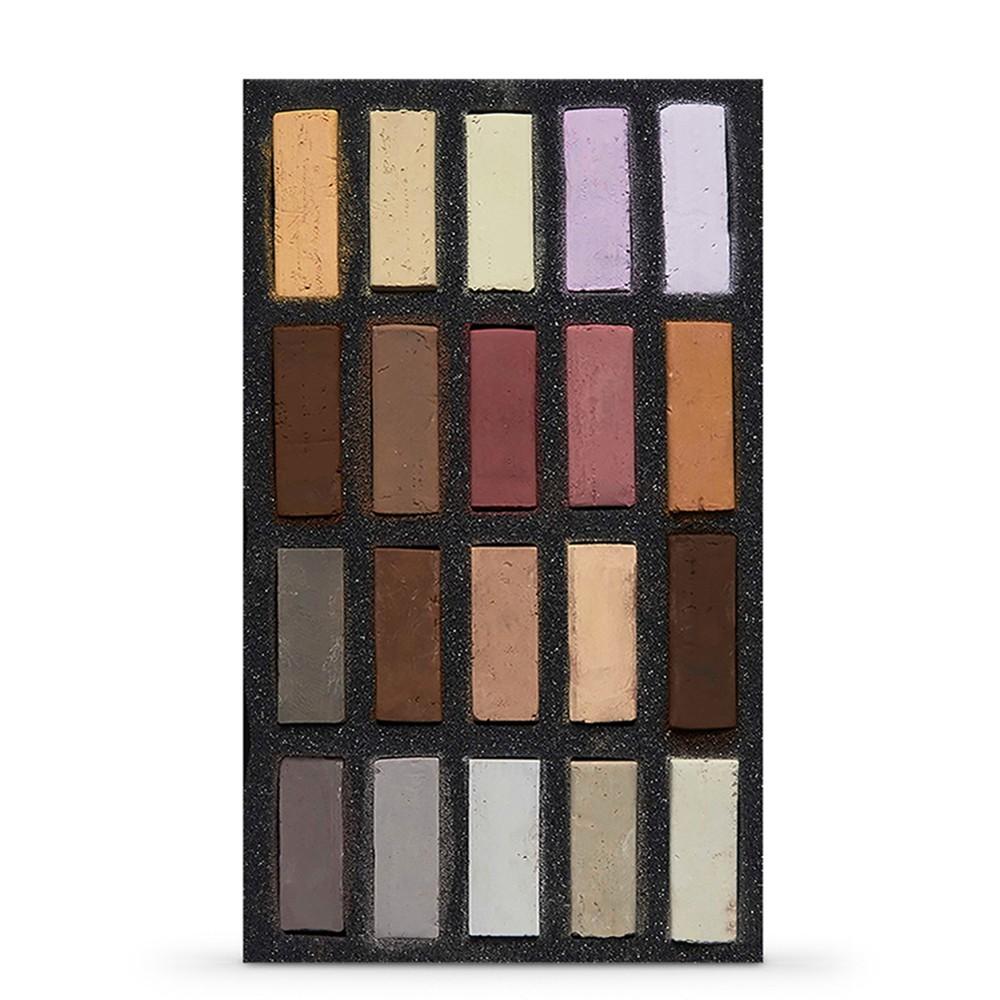 Art Spectrum : Extra Soft Square Pastel : Set Of 20 : Skintones