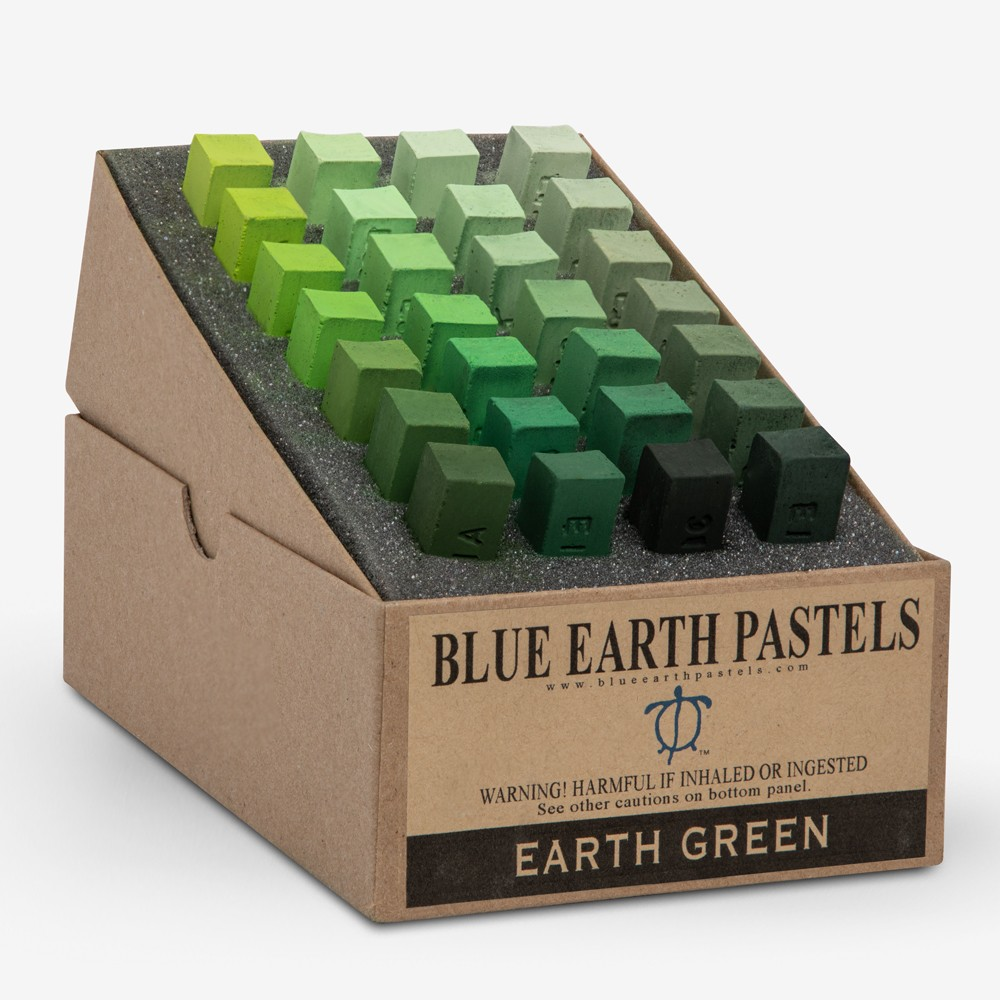 Blue Earth : Soft Pastel : 28 Stick Box Set : Earth Green