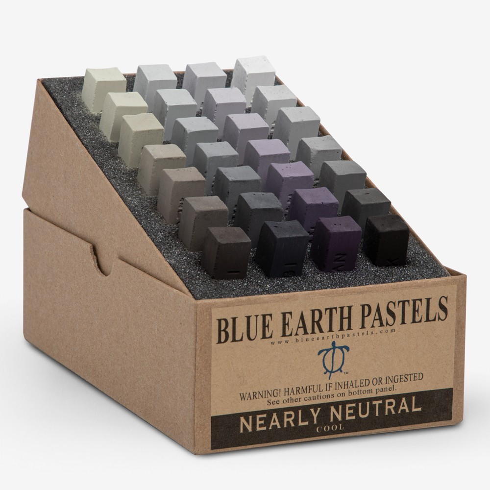 Blue Earth : Soft Pastel : 28 Stick Box Set : Nearly Neutral Cool