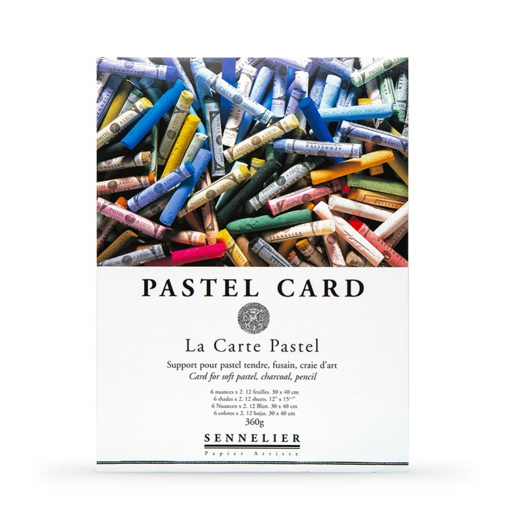 Sennelier : Soft Pastel Card Pad : 360gsm : 12 Sheets : 6 Colours : 40x30cm