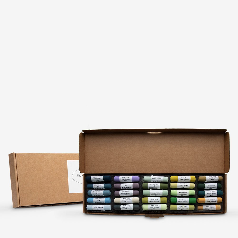 Mount Vision Soft Pastel : Set of 25 : Workshop Selection E