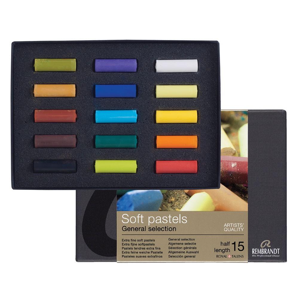 Talens : Rembrandt Soft Pastel : 15 Assorted 1/2 Stick Box Set