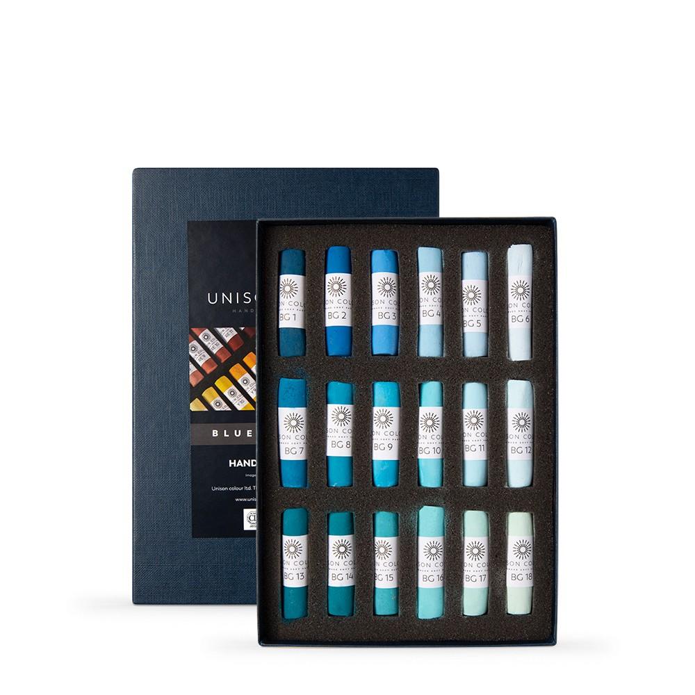Unison Colour : Soft Pastel : Set of 18 Blue Green