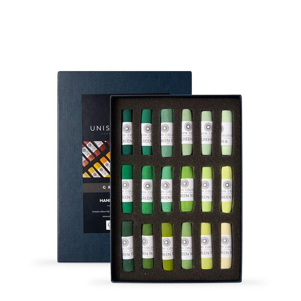 Unison Colour : Soft Pastel : Set of 18 Green 1-18