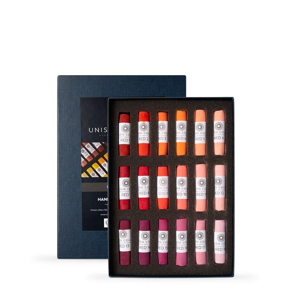 Unison Colour : Soft Pastel : Set of 18 Red