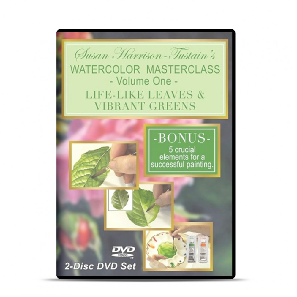 DVD : Susan Harrison-Tustain's Watercolor Masterclass 1 : Lifelike Leaves & Vibrant Greens : 2 Disc Set