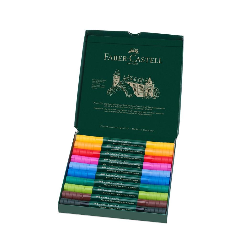 Faber Castell : Albrecht Durer : Watercolour Marker : Wallet Set of 10
