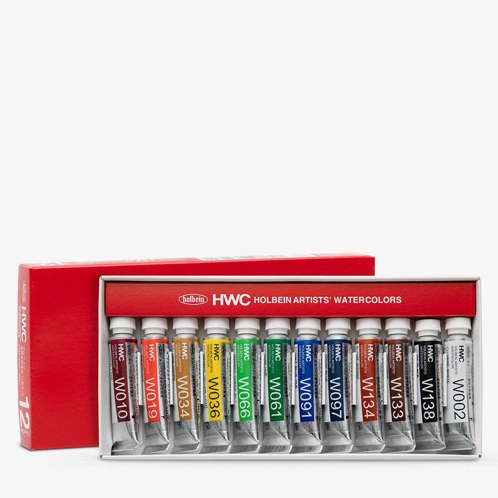 Holbein Watercolour Paint : Set Of 5ml : Tubes x 12 (W401)