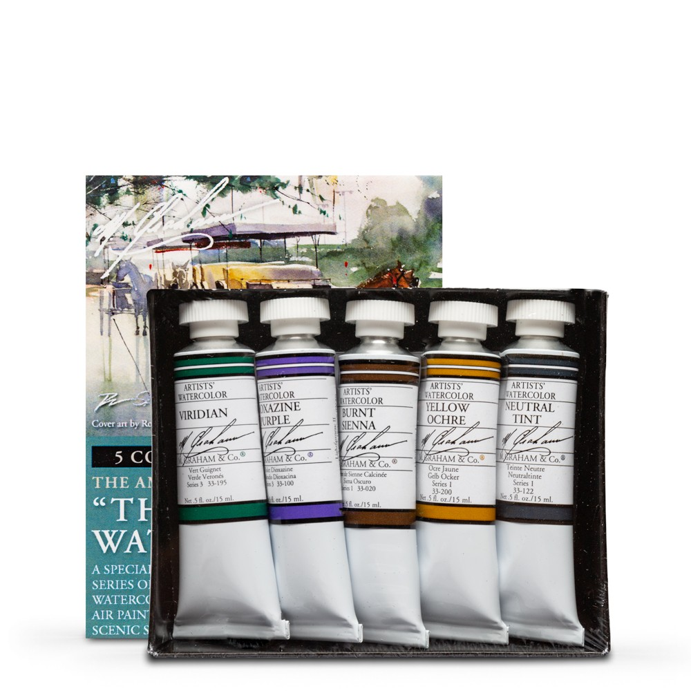 M. Graham : Artists' Watercolour Paint : 15ml : The South Set of 5