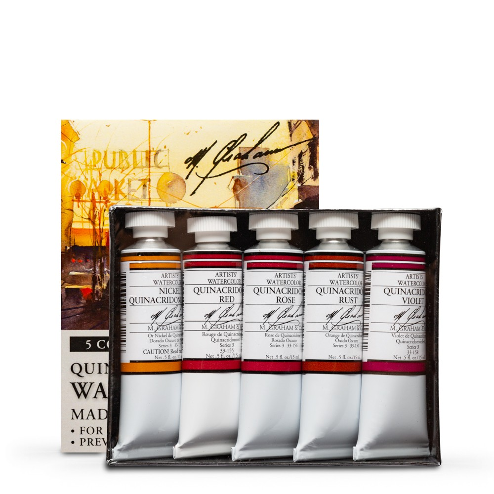 M. Graham : Artists' Watercolour Paint : 15ml : Quinacridone Set of 5