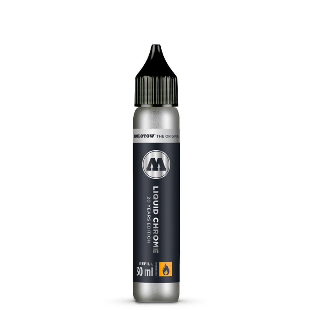 Molotow : Liquid Chrome : 20 Year Edition : Mirror Ink Pump Marker Refill : 30ml