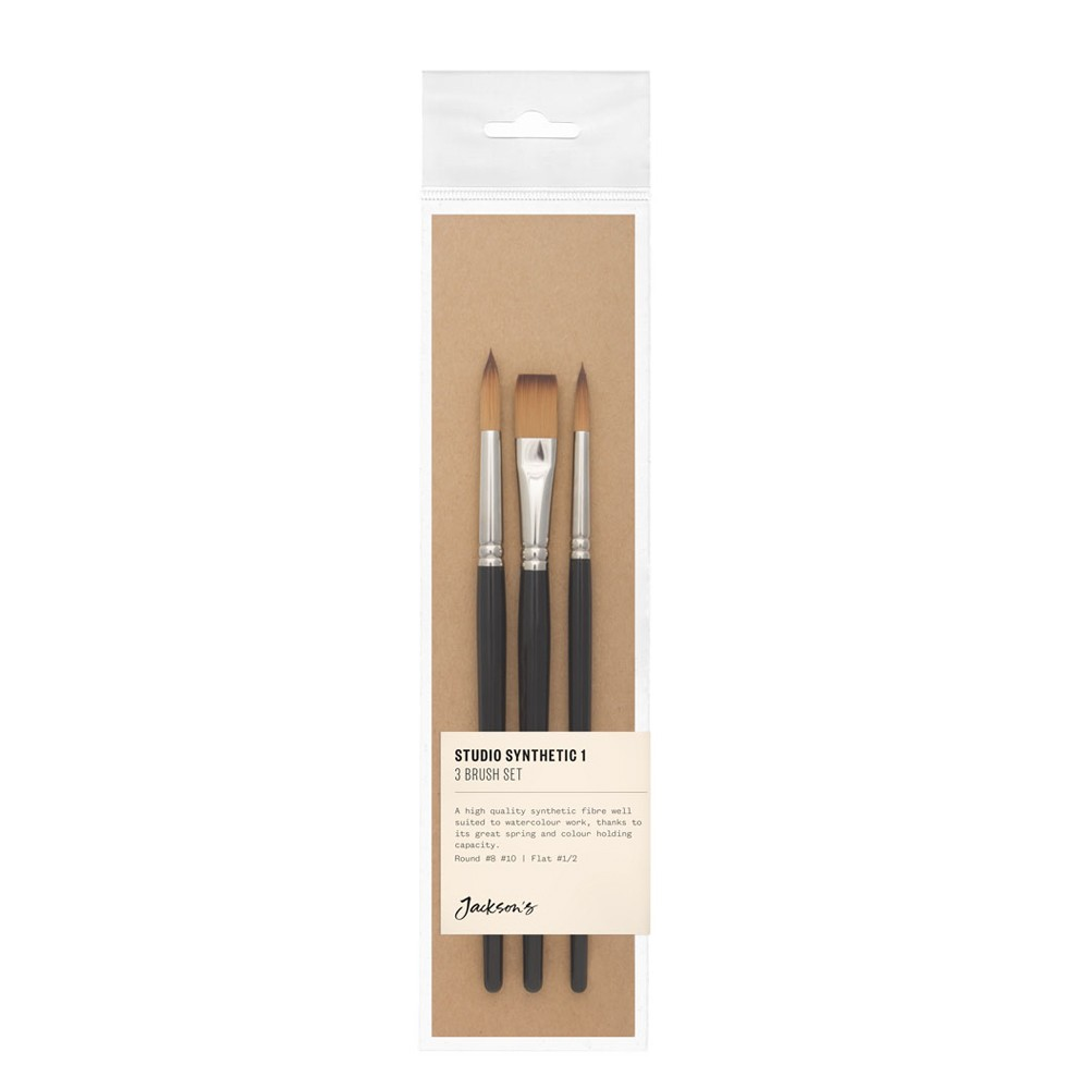 Jackson's : Studio Synthetic Brush Set : Set of 3