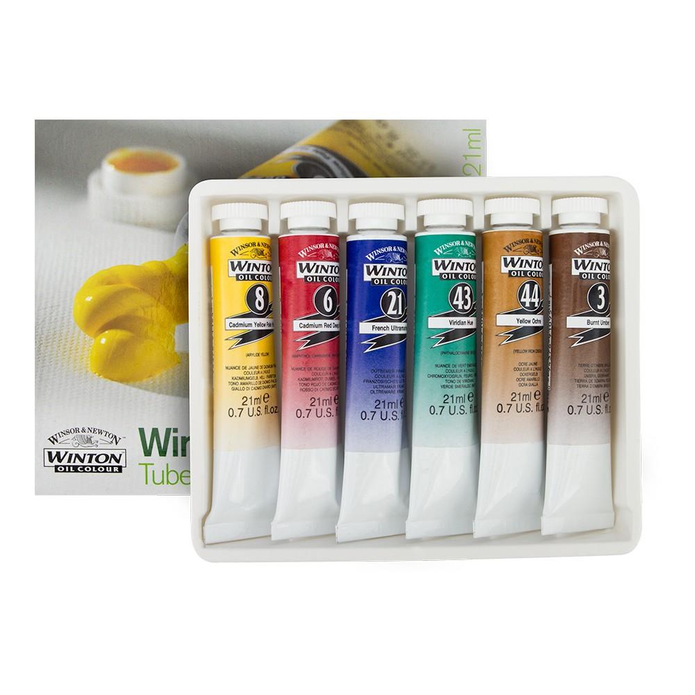 Winsor & Newton : Winton : Oil Paint : 21ml : Set of 6