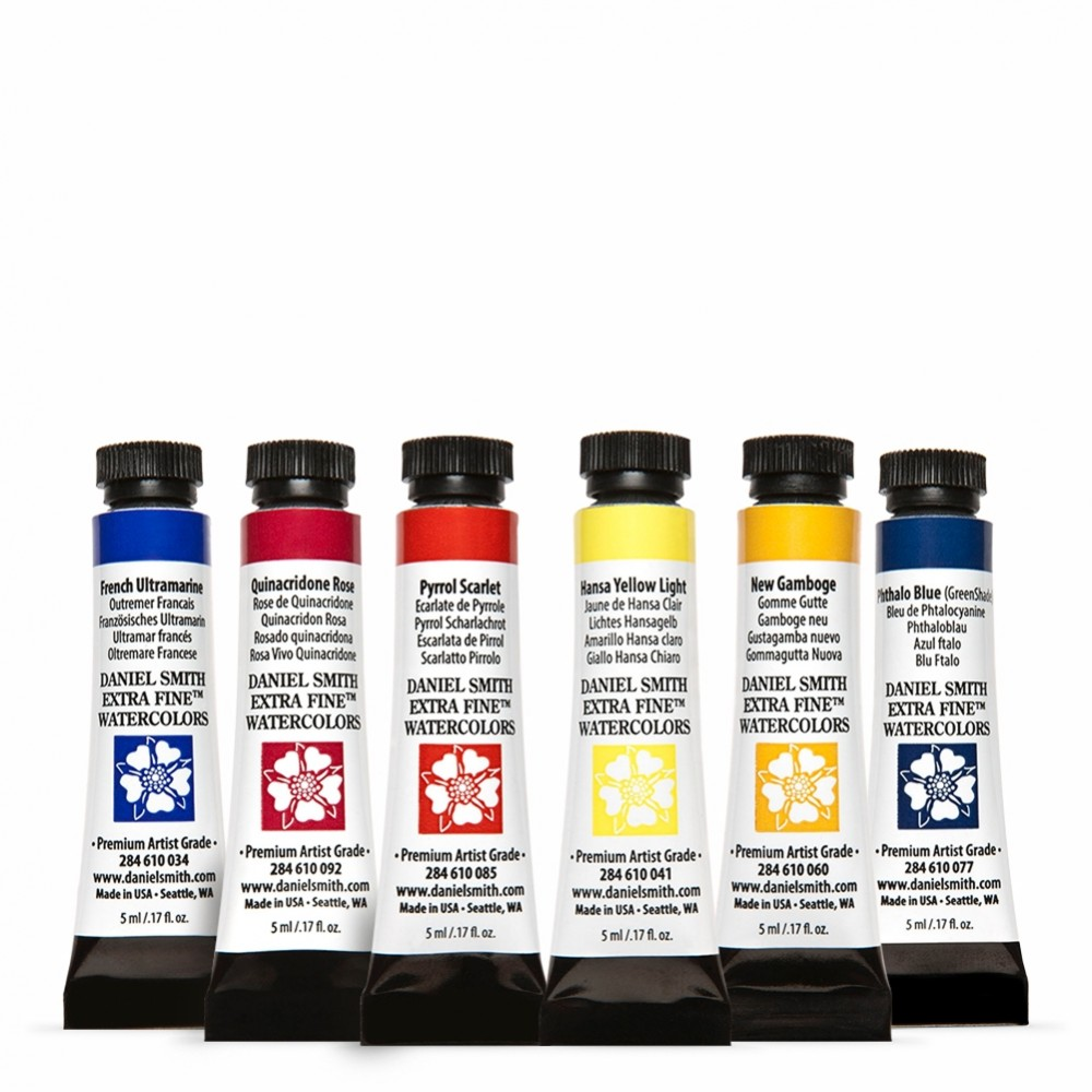Daniel Smith : Watercolour Paint : Essentials Set : 5ml : Set of 6
