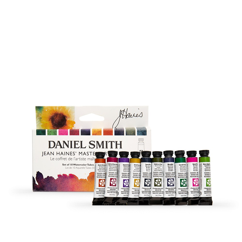 Daniel Smith : Watercolour Paint : 5ml : Jean Haines' Master Artist Set of 10