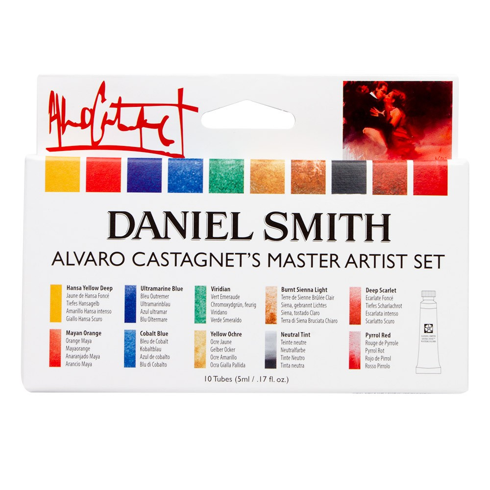 Daniel Smith : Alvaro Castagnet Master Artist Watercolour Paint Set : 5ml : Set of 10 : With Free 238 Dot Card