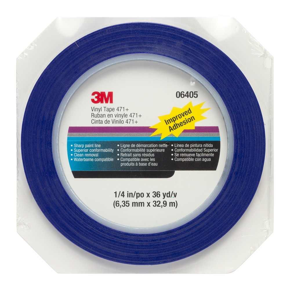 3M : Blue Fine Line Pinstriping Tape : 6 mm