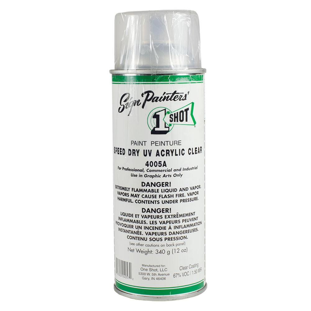 One Shot : Speed Dry UV Acrylic Clear Aerosol : 340g : By Road Parcel Only