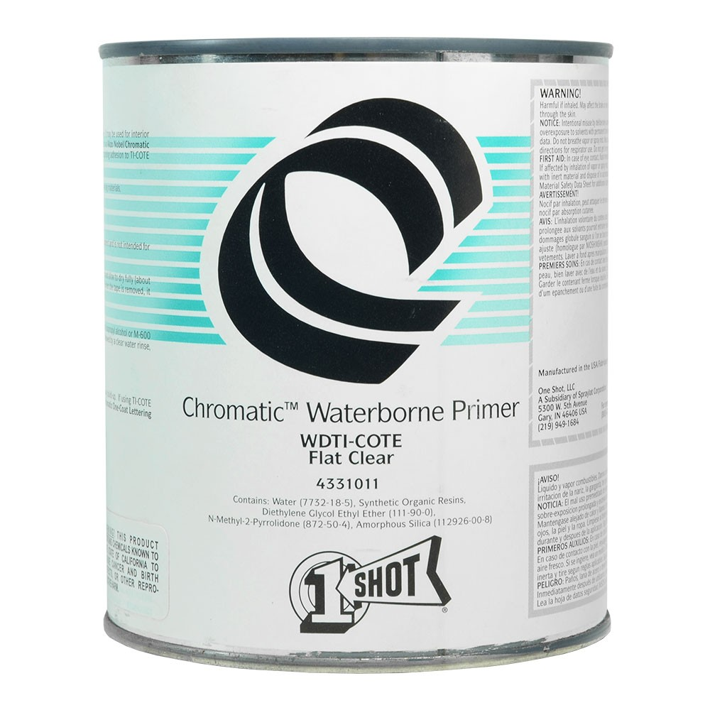 One Shot TI-COTE Clear Primer Barrier Coat 946ml - Flat : By Road Parcel Only