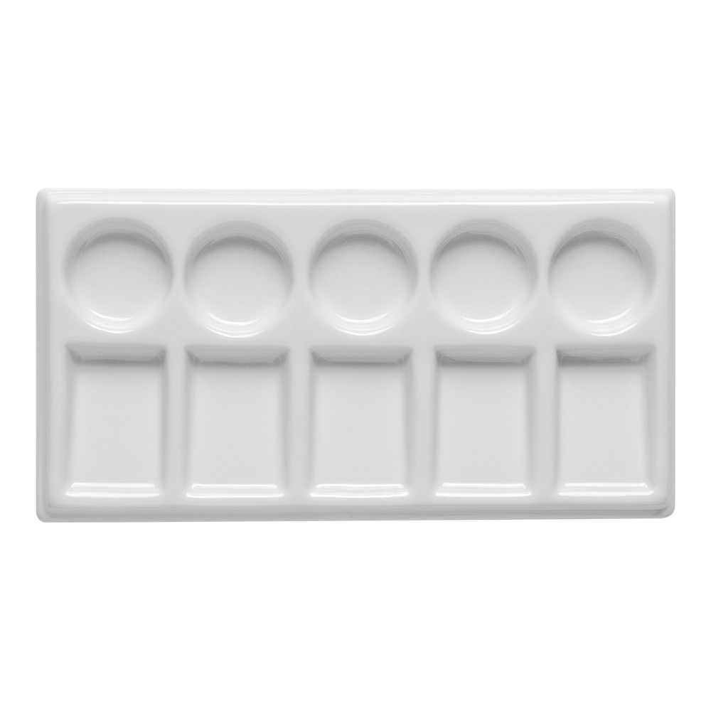 Jackson's : Ceramic Palette : Slant 10 well 4 3/4 x 7.5 in