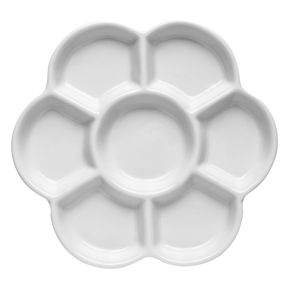 Jackson's : Ceramic Palette : Daisy Porcelain 7 well 6 in. diameter
