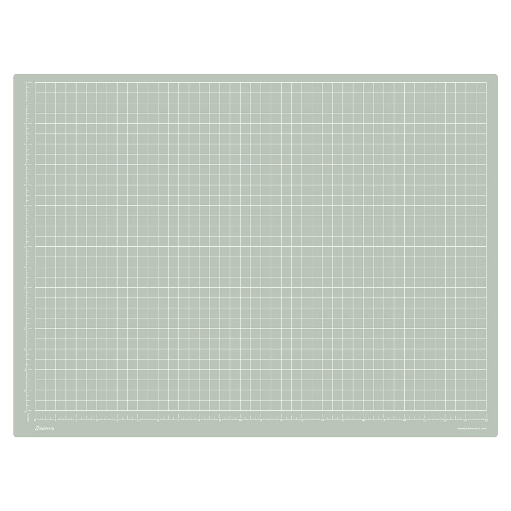 Jackson's : A2 Grey Cutting Mat : Double Sided CM & Inch Grid : 45x65cm : 17.7x23.6in