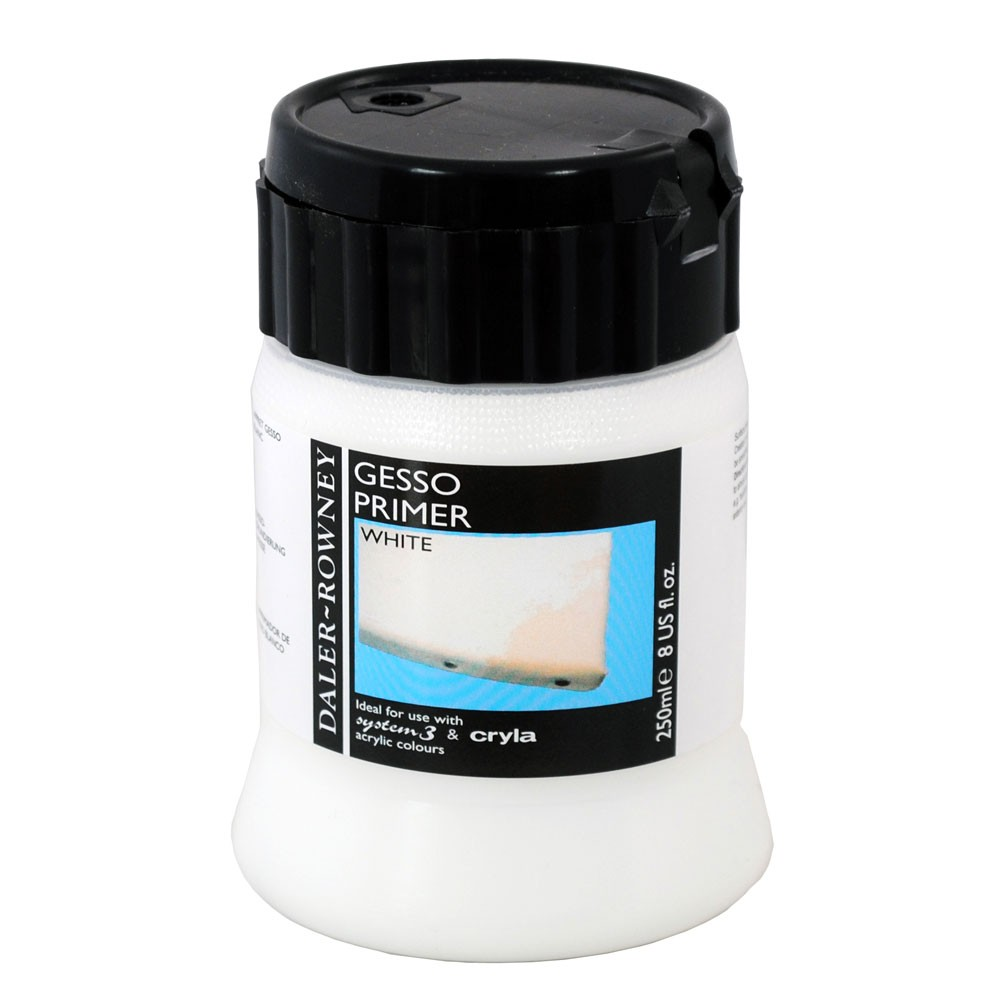 Daler Rowney : Acrylic Medium : Gesso Primer : 250ml : White