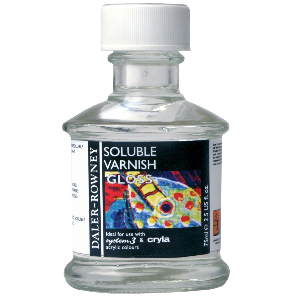 Daler Rowney : Acrylic Medium : Soluble Gloss Varnish : 75ml : By Road Parcel Only