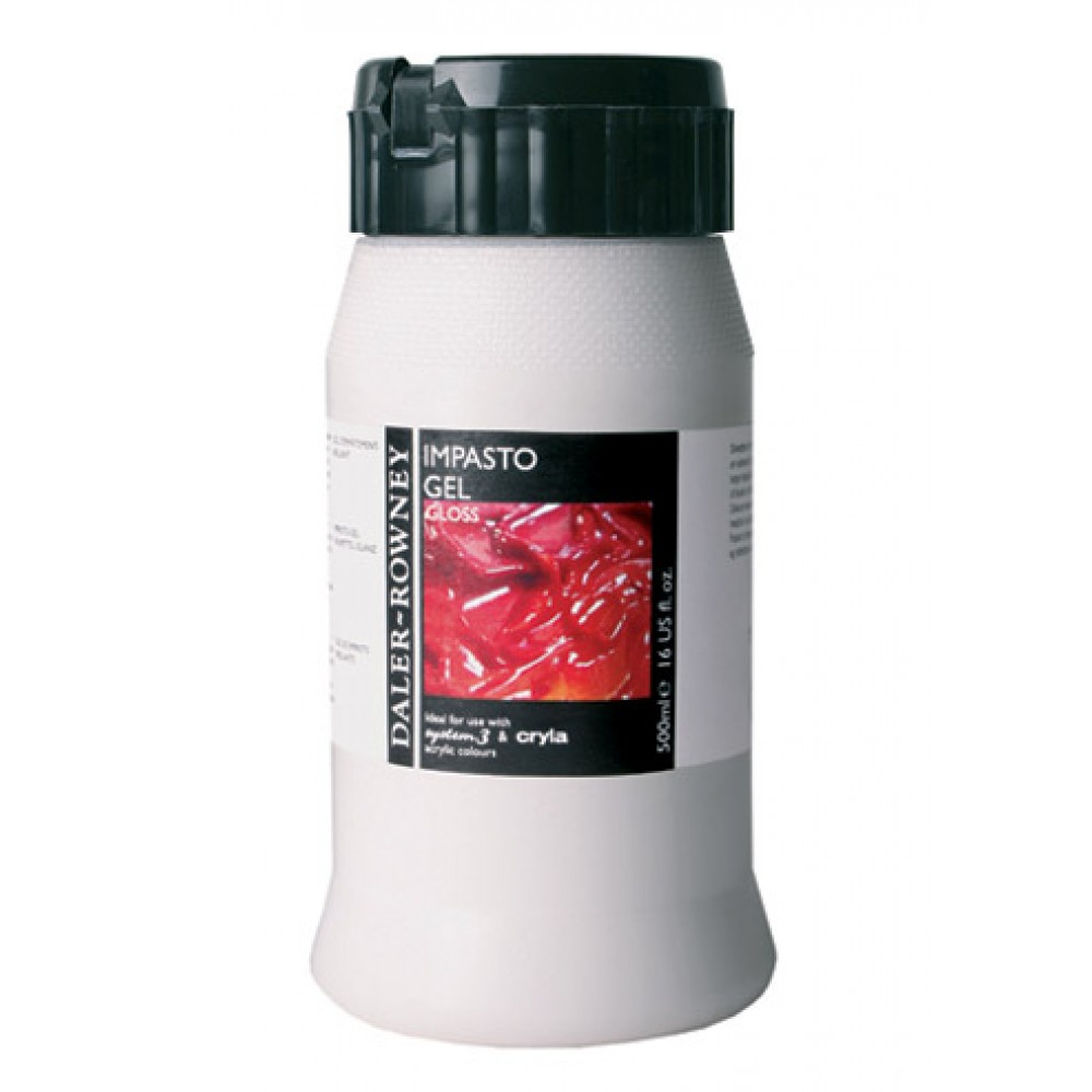 Daler Rowney : Acrylic Medium : Impasto Gel Medium : 500ml : Gloss