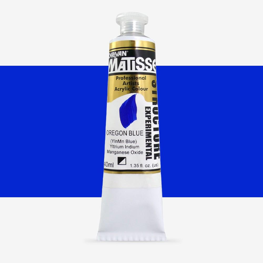 Derivan : Matisse Structure : Acrylic Paint : 40ml : Oregon (YInMn) Blue