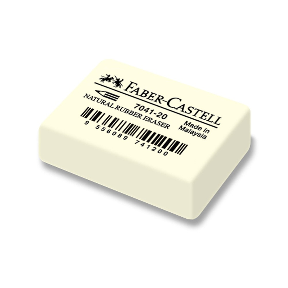 Faber Castell : Natural White Rubber Eraser