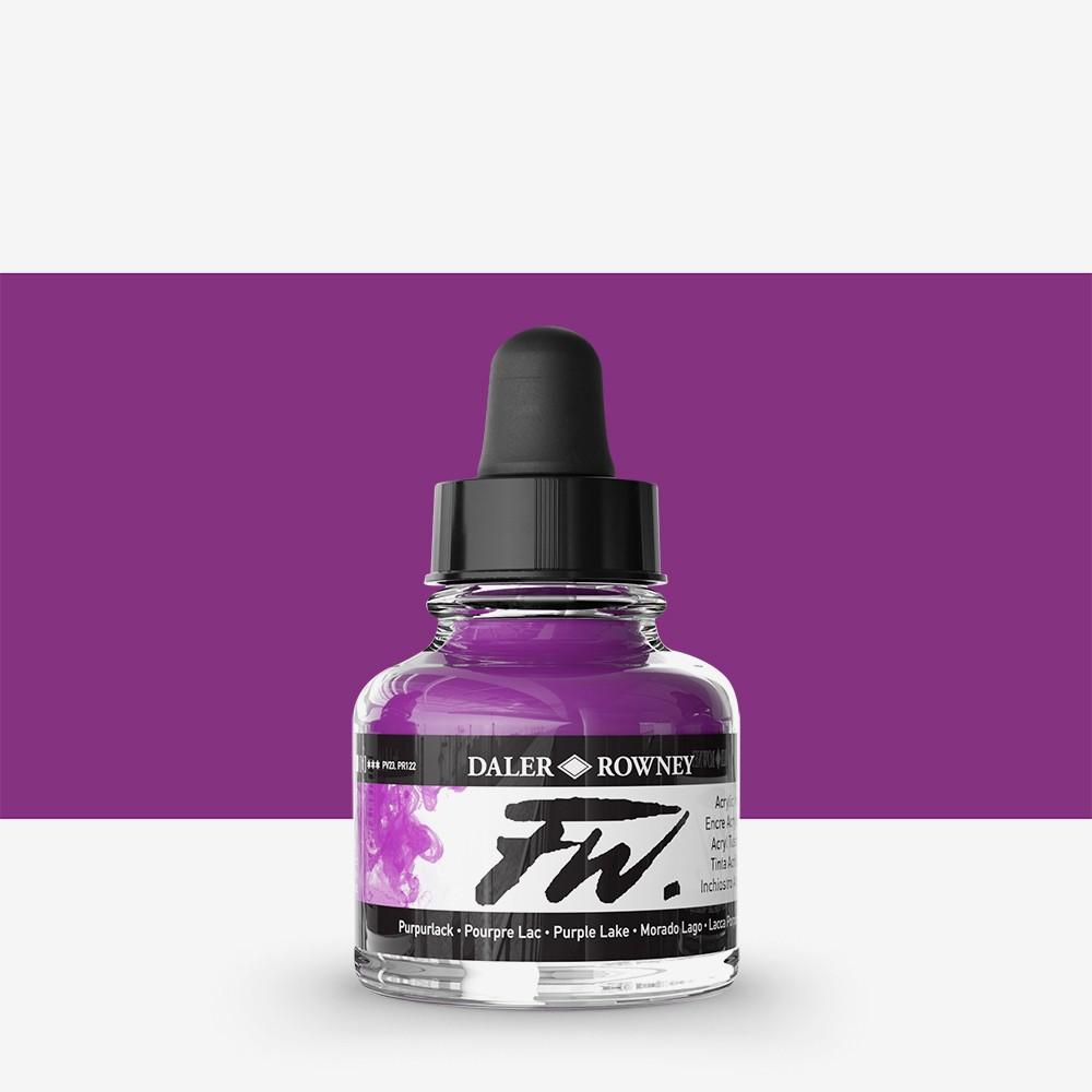 Daler Rowney : FW Artists' Ink : 29.5ml : Purple Lake