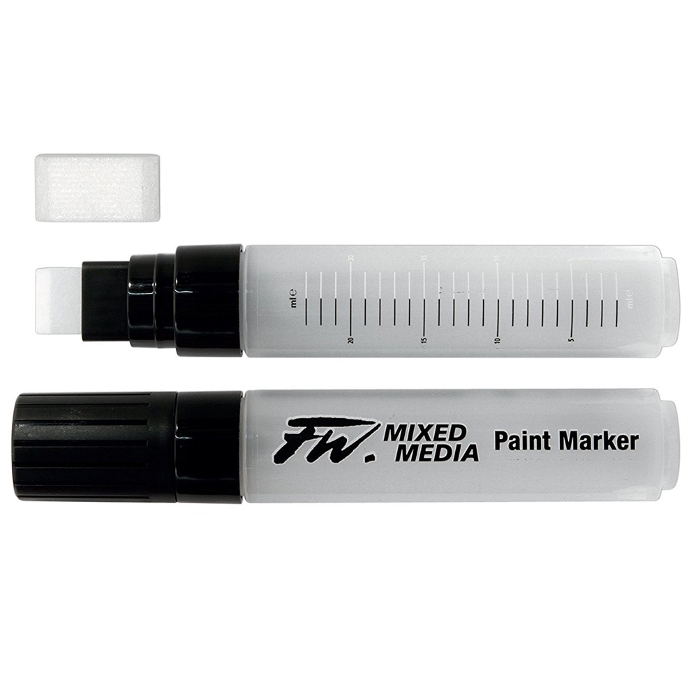 Daler Rowney : FW Mixed Media Paint Marker : Large Flat 8-15mm : With Nib
