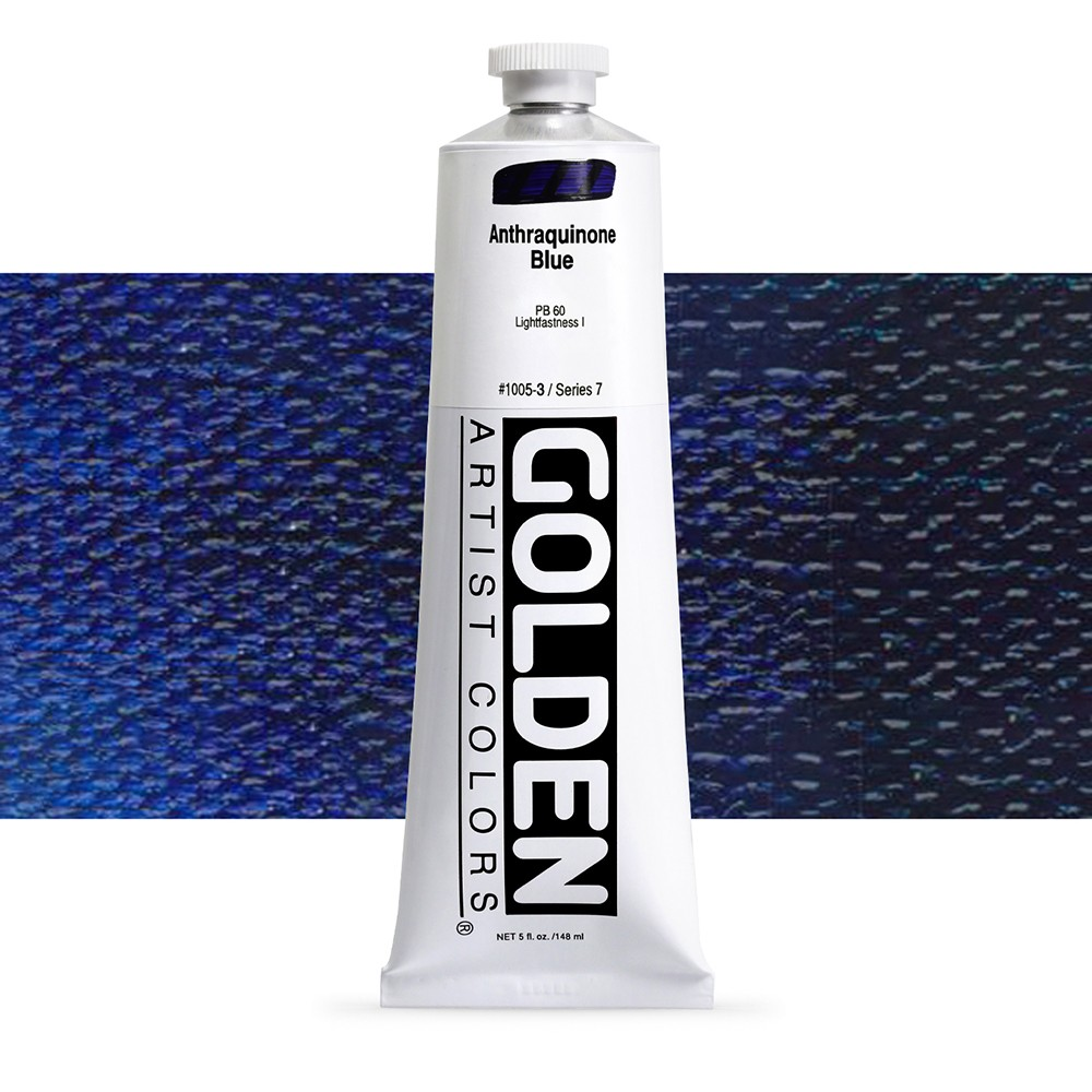 Golden : Heavy Body Acrylic Paint : 150ml : Anthraquinone Blue
