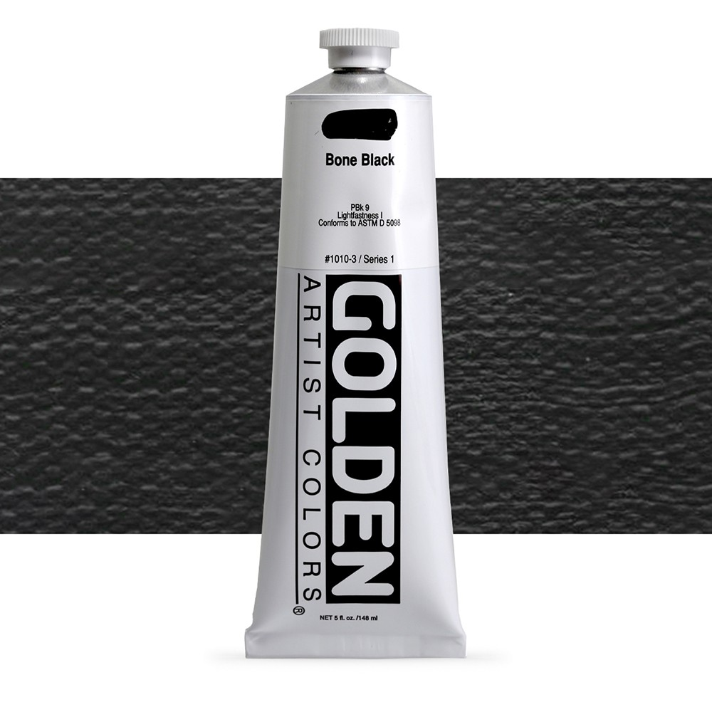 Golden : Heavy Body Acrylic Paint : 150ml : Bone Black