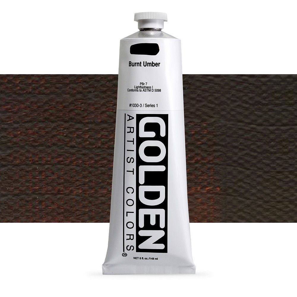 Golden : Heavy Body Acrylic Paint : 150ml : Burnt Umber
