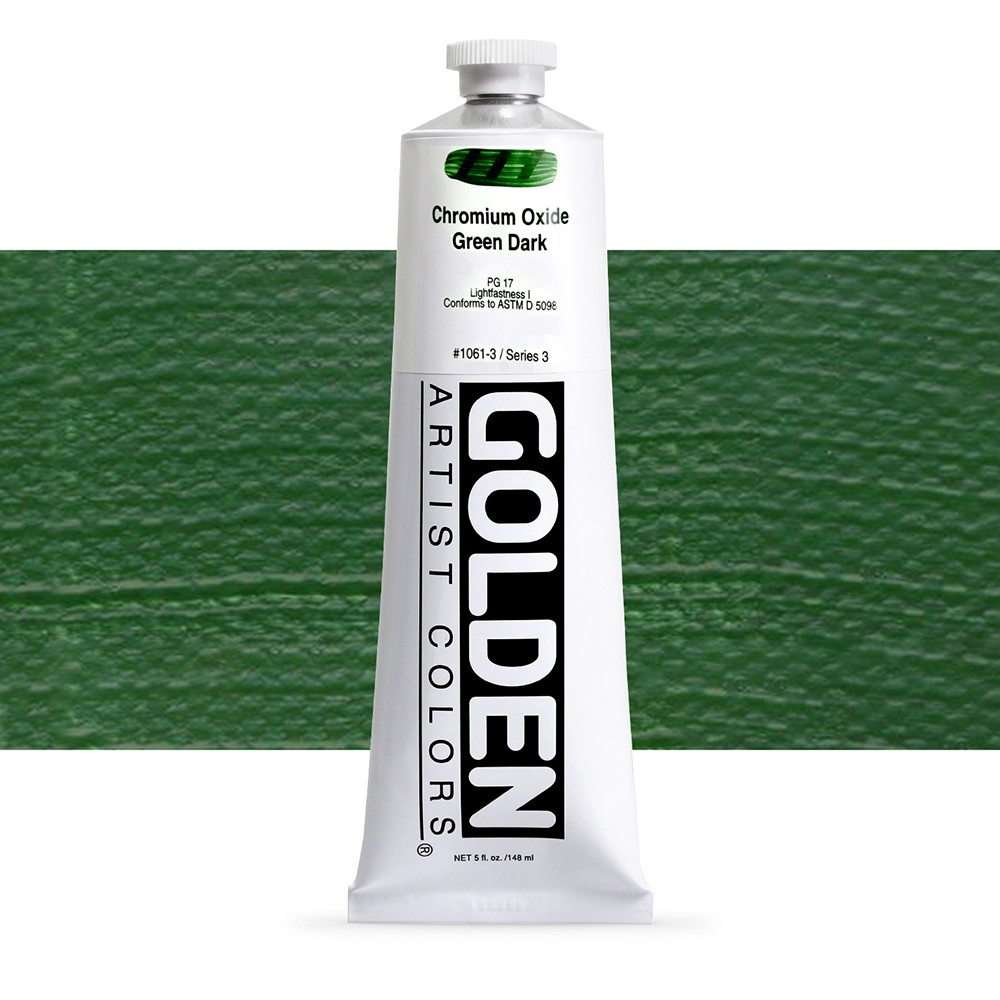 Golden : Heavy Body Acrylic Paint : 150ml : Chromium Oxide Green Dark