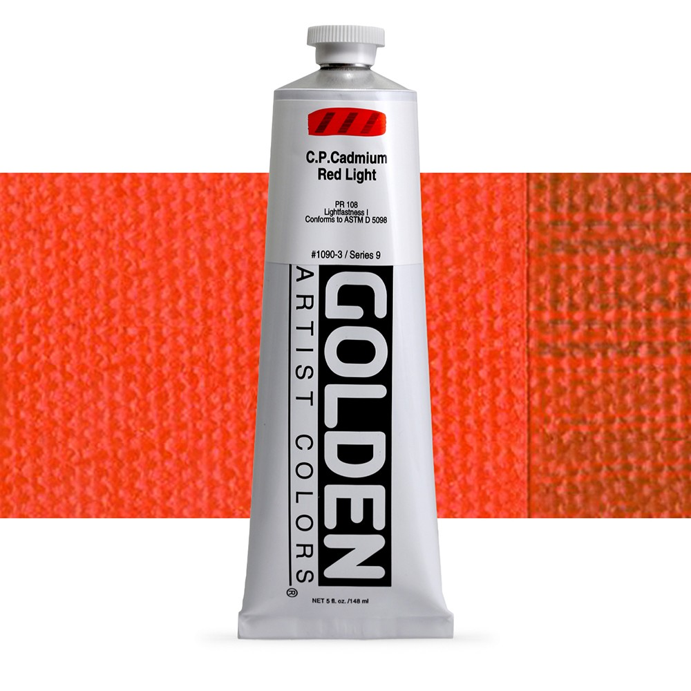 Golden : Heavy Body Acrylic Paint : 150ml : Pure Cadmium Red Light