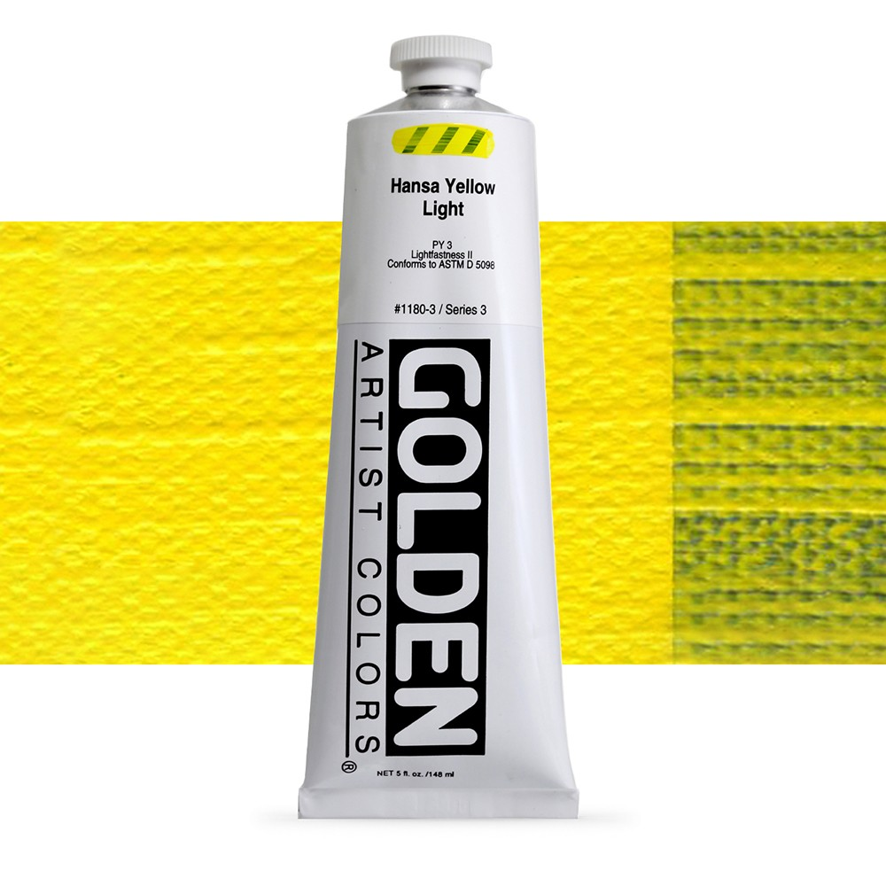 Golden : Heavy Body Acrylic Paint : 150ml : Hansa Yellow Light