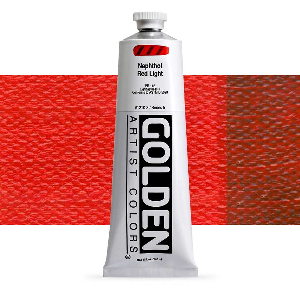 Golden : Heavy Body Acrylic Paint : 150ml : Naphthol Red Light