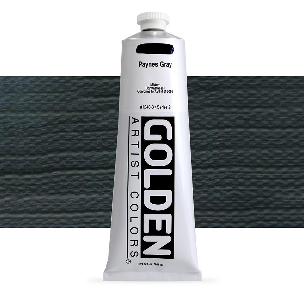 Golden : Heavy Body Acrylic Paint : 150ml : Paynes Grey