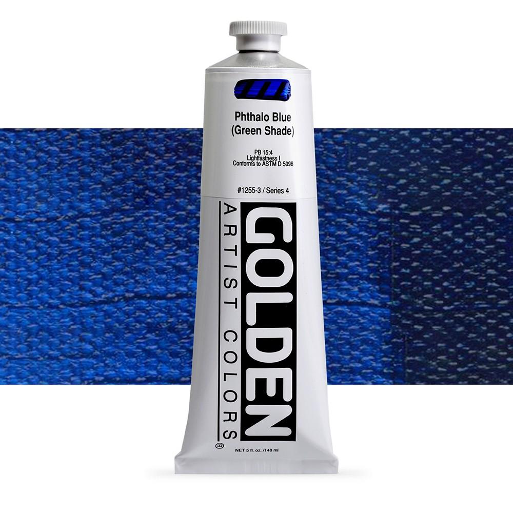 Golden : Heavy Body Acrylic Paint : 150ml : Phthalo Blue Green Shade