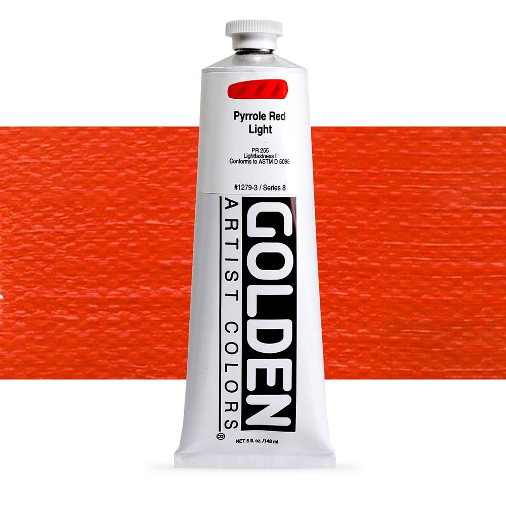 Golden : Heavy Body Acrylic Paint : 150ml : Pyrrole Red Light
