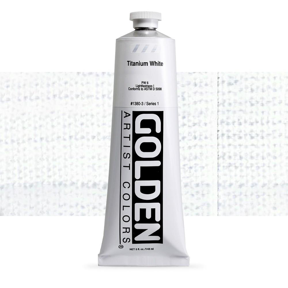 Golden : Heavy Body Acrylic Paint : 150ml : Titanium White