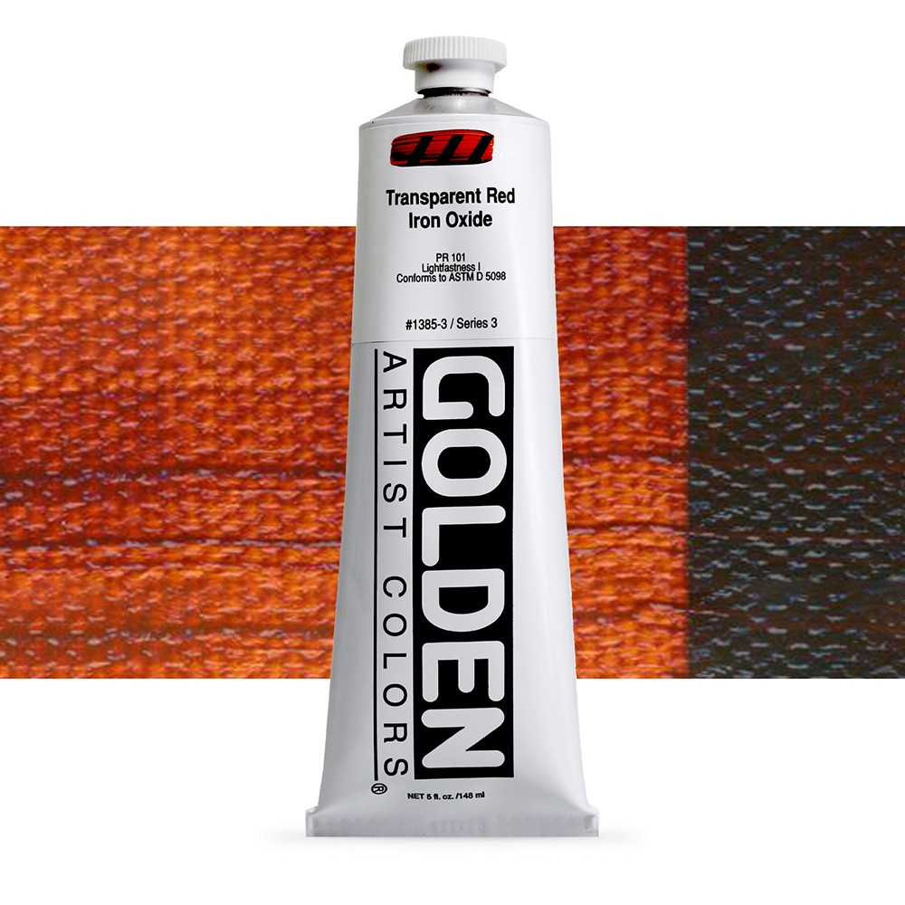 Golden : Heavy Body Acrylic Paint : 150ml : Transparent Red Iron Oxide