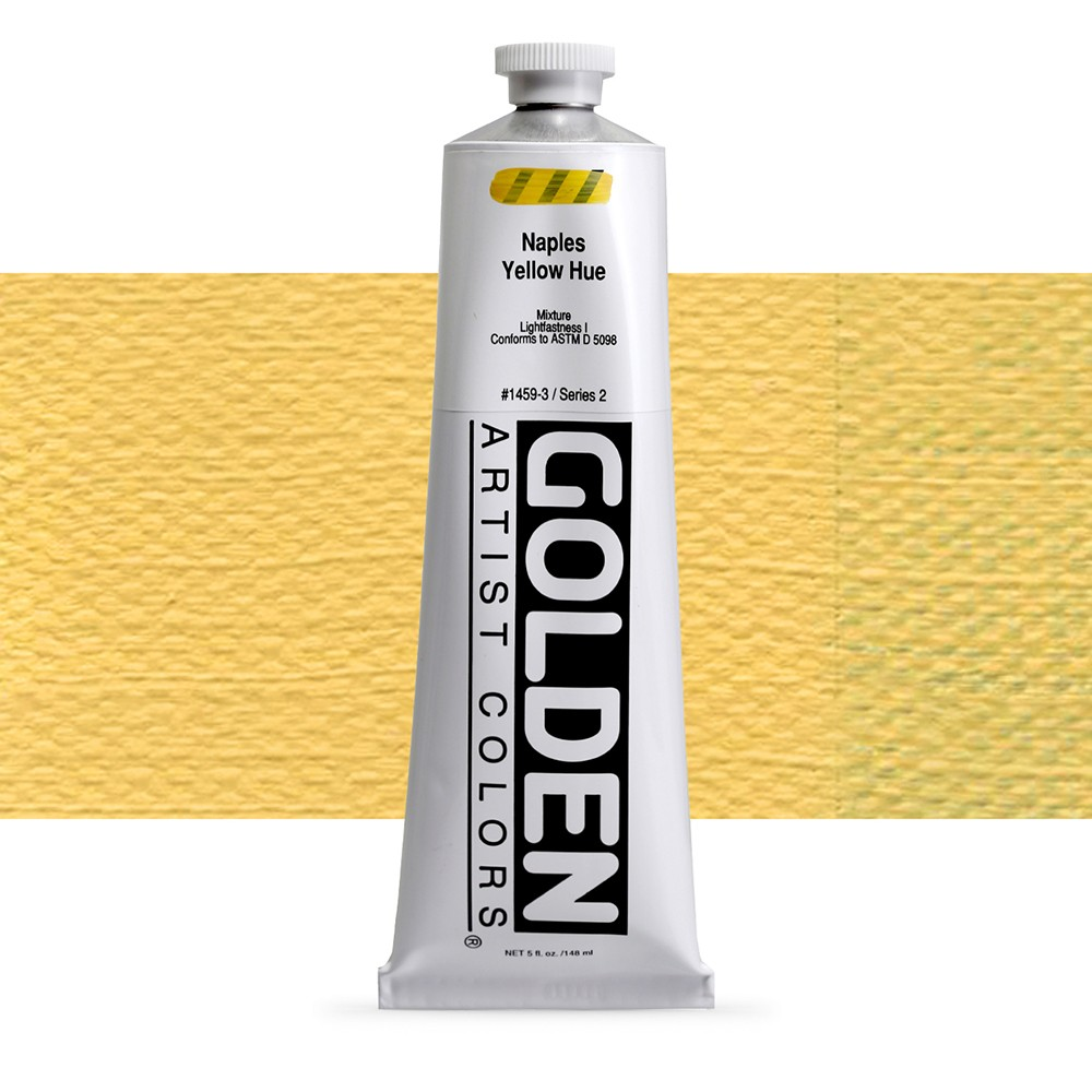Golden : Heavy Body Acrylic Paint : 150ml : Naples Yellow Hue